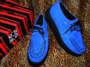 "TUK_CREEPERS "" ROUND TOW ""【BLUE suede】"