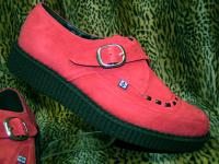 "TUK_CREEPERS "" POINTED /BUCKLE ""【RED suede】"