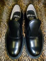 THE KING PERFECT BLACK FLAP-SHOES