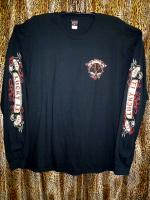 "Men'S Long Sleeve-T ""MOTOR SKULL"""